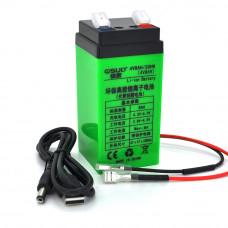 Аккумуляторная батарея литиевая QSuo 4V 8A с элементами Li-ion 18650 (47X47X100)
