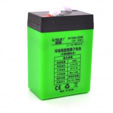 Аккумуляторная батарея литиевая QSuo 6V 10A с элементами Li-ion 18650 (70X46X100)