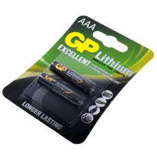Батарейка GP 24LF-U2, литиевая AAA, 2 шт в вакуумной упаковке, цена за упаковку