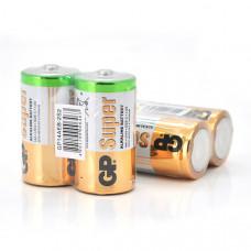 Батарейка GP Super 13A-S2 / LR20 щелочная, 2 шт в вакуумной упаковке, цена за упаковку