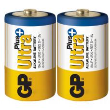 Батарейка GP Ultra Plus 13AUP-S2 / LR20 щелочная, 2 шт в вакуумной упаковке, цена за упаковку