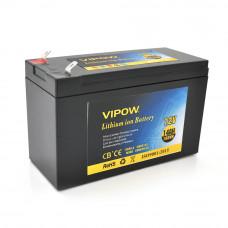Аккумуляторная батарея литиевая Vipow 12 V 14A с элементами Li-ion 18650 со встроенной ВМS платой, (3S7P) (151х65х94(100))мм
