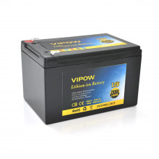 Аккумуляторная батарея литиевая Vipow 12 V 20A с элементами Li-ion 18650 со встроенной ВМS платой, (3S10P) (151х98х95(101))мм