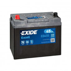 Exide Excell 45Ah 330A EB455 L+ Asia