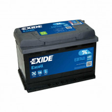 Exide Excell 74Ah 680A EB740 R+