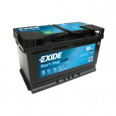 Exide AGM 80Ah 800A EK800 R+(Start-Stop)