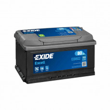 Exide Excell 80Ah 700A EB802 R+(низк.)