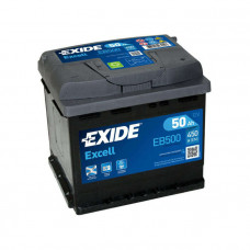 Exide Excell 50Ah 450A EB500 R+