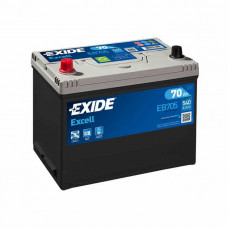 Exide Excell 70Ah 540A EB705 L+ Asia