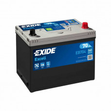 Exide Excell 70Ah 540A EB704 R+ Asia