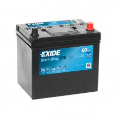 Exide EFB 60Ah 520A EL604 R+ Asia(Start-Stop)