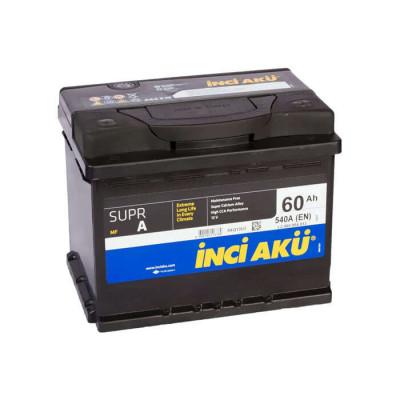 Аккумулятор INCI AKU SuprA 60Ah EN 540 R+
