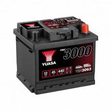 Yuasa YBX 3063 45Ah EN 440A R+(низк.)