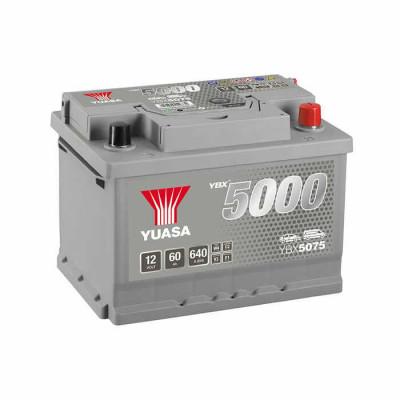 Аккумулятор Yuasa YBX 5075 60Ah EN 640A R+(низк.)