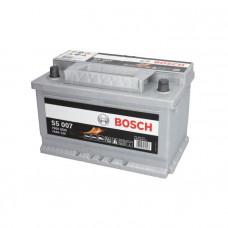 Bosch S5007 74Ah EN750A R+(низк.)