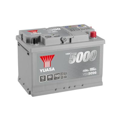 Аккумулятор Yuasa YBX 5096 80Ah EN 740A R+ (размер 74)