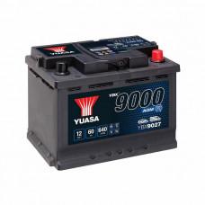 Yuasa YBX 9027 AGM Start Stop 60Ah EN 640A R+
