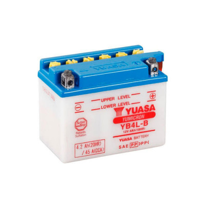 Аккумулятор Yuasa YB4L-B Yumicron 4,2Ah 45A R+