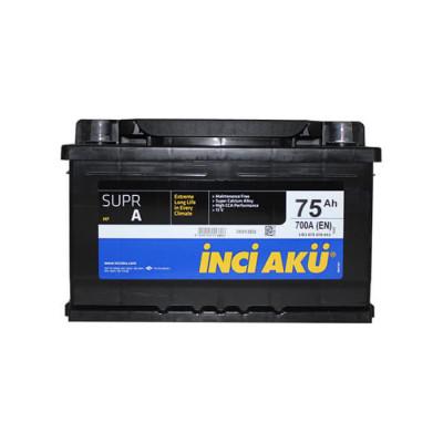 Аккумулятор INCI AKU SuprA 75Ah EN 700 R+ (низк.)