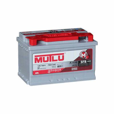 Аккумулятор Mutlu SFB-3 75Ah EN 720A R+(низк.)