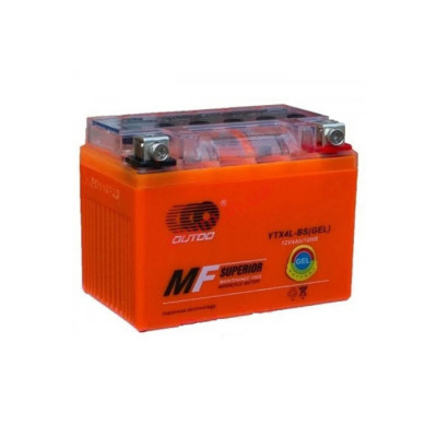 Мото аккумулятор Outdo 4Ah-12V YTX4L-BS (GEL) R+