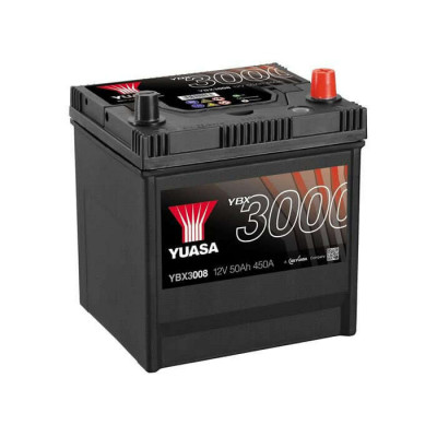 Аккумулятор Yuasa YBX 3008 50Ah EN 450A R+ Asia