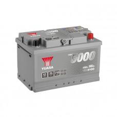 Yuasa YBX 5100 75Ah EN 710A R+(низк.)