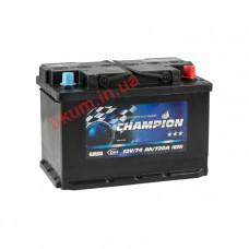 Champion Black 74Ah EN720A R+