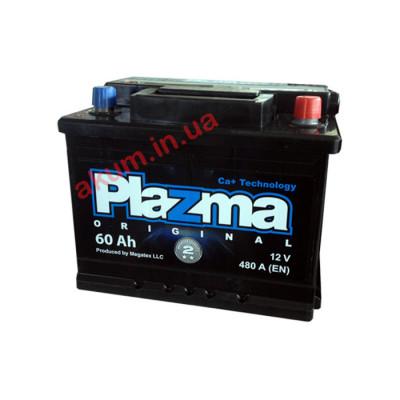 Аккумулятор Plazma Original 60Ah EN 480A R+