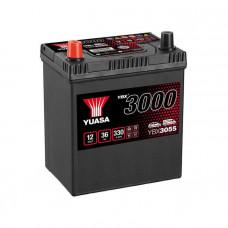 Yuasa YBX 3055 36Ah EN 330A L+ Asia