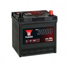 Yuasa YBX 3108 50Ah EN 400A R+ Asia(ниж.креп.)