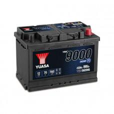Yuasa YBX 9096 AGM Start Stop 70Ah EN 760A R+