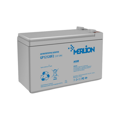 Аккумулятор Merlion Agm GP12120F2 12V 12Ah Q4