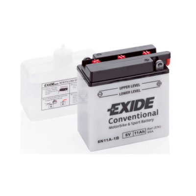 Аккумулятор Exide 11Ah-6V EN 95A R+ 6N11A-1B (121x59x131)
