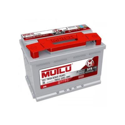 Аккумулятор Mutlu SFB-3 78Ah EN 780A R+(низк.)