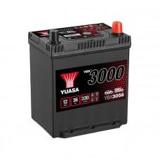 Yuasa YBX 3056 36Ah EN 330A R+ Asia(ниж.креп.)