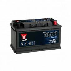 Yuasa YBX 9115 AGM Start Stop 80Ah EN 800A R+