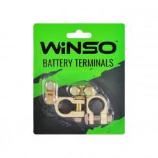 Клеммы акумуляторные Winso 2шт. цинк, вес 90 гр.