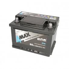 4Max EFB 60Ah 560A[EN] R+(низк.)