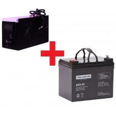 Готовое решение Ибп Ritar RTSW-600,12В Q4 + АКБ Challenger A12-33