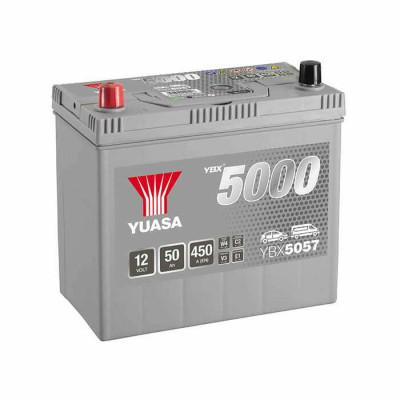 Аккумулятор Yuasa YBX 5057 50Ah EN 450A L+ Asia