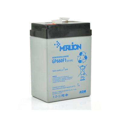 Аккумулятор Merlion Agm GP660F1 6V 6Ah Q20