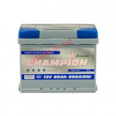 Champion Premium 60Ah EN600A R+