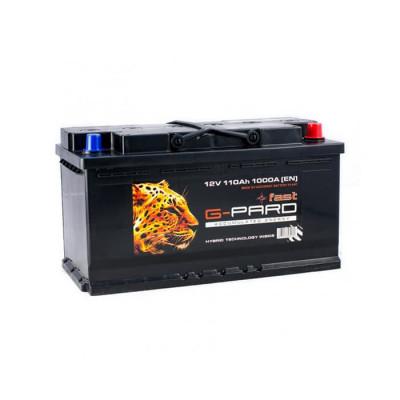 Аккумулятор G-Pard Fast 110Ah EN 1000A R+(размер 100)