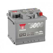 Yuasa YBX 5063 52Ah EN 520A R+ (низк.)
