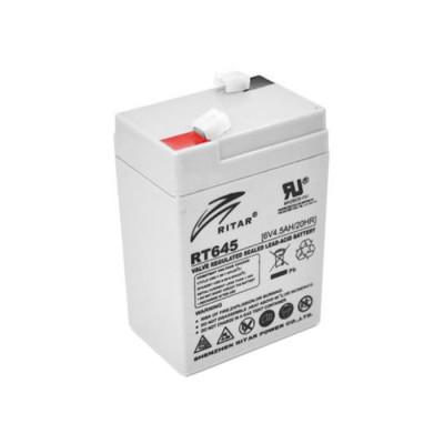 Аккумулятор Ritar Agm RT645, Gray 6V 4.5Ah Q20
